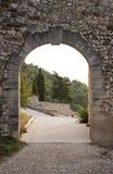 Arch gate in Gigondas. Antique arch gate in Gigondas, Vaucluse, France stock images