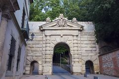 Arch gate in Granada. Granada, Andalusia, Spain Stock Image