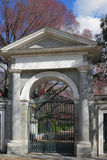 Arch gate in Royal botanical garden. Madrid, Spain Stock Photos