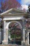 Arch gate in Royal botanical garden. Madrid, Spain Stock Photos