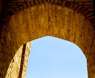 The Arch of Gaukushon minaret in Bukhara, Uzbekistan. Central Asia Royalty Free Stock Photography