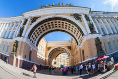 Arch of the General Staff Building on Palace Square in St. Peter Stock Photography