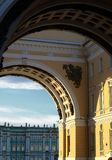 Arch of the General Staff building, Russia. St.-Petersburg. Stock Photography