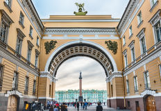 Arch of the General Staff Building, St. Petersburg, Russia Royalty Free Stock Photography