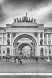 Arch of the General Staff Building, St. Petersburg, Russia Royalty Free Stock Image