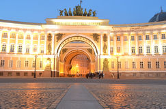 Arch of the General Staff at night Royalty Free Stock Images