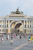 The arch of General staff on Palace square. Stock Photo