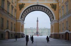 Arch of the General Staff and the Palace Square Stock Photography