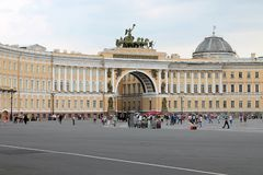 Arch of the General Staff. St. Petersburg. stock images