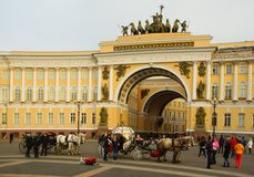 Arch of the General staff in St. Petersburg Stock Photos