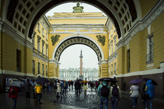 Arch of the General Staff. St. Petersburg, Russia - Jule 7, 2016 Arch of the General Staff, in front of the entrance to the Palace Square in St. Petersburg Royalty Free Stock Photography