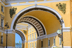 The arch of General Staff, St Petersburg, Russia royalty free stock photo