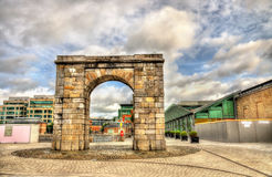 The Arch at George Dock in Dublin Stock Photos