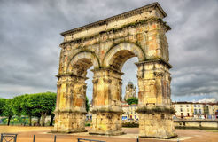 Arch of Germanicus, an ancient Roman arch in Saintes Stock Images