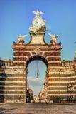 The arch Giuseppe Garibaldi, Catania, Sicily royalty free stock images