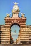 The arch Giuseppe Garibaldi, Catania, Sicily stock image