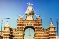 The arch Giuseppe Garibaldi, Catania, Sicily stock photos