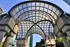Arch with glass roof Stock Images