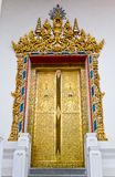 Arch Gold Door in Temple Royalty Free Stock Photos