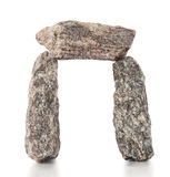Arch of gray granite stones Stock Photos