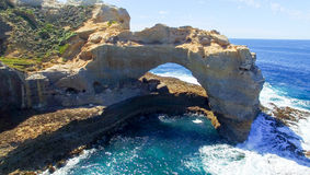 The Arch, Great Ocean Road. Beautiful aerial view of coastline, Stock Photography