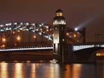 Arch of Great Piter bridge Royalty Free Stock Image