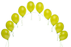 Arch of green balloons Stock Image
