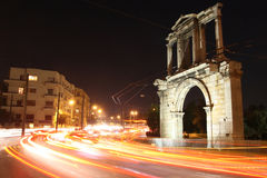 Arch of Hadrian. Greece, Athens. Arch of Hadrian at night Royalty Free Stock Photos