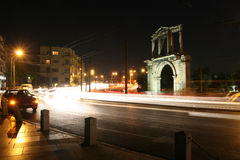 Arch of Hadrian. Greece, Athens. Arch of Hadrian at night Royalty Free Stock Photography