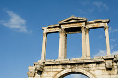 The arch of Hadrian, Athens Royalty Free Stock Photo