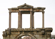 Arch of Hadrian in Athens. Greece.  Stock Image