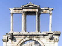 Arch of Hadrian in Athens Stock Photography