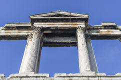 Arch of Hadrian in Athens Royalty Free Stock Image