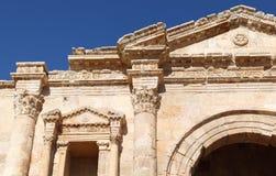 Arch of Hadrian details, Jerash - Jordan Stock Image