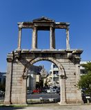 Arch of Hadrian. This is a Fall picture of the historic Arch of Hadrian located in Athens, Greece.  This is a monumental gateway built to celebrate he arrival of Royalty Free Stock Image