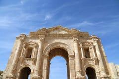 Arch of Hadrian in Gerasa (Jerash) Stock Image