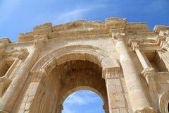 Arch of Hadrian in Gerasa (Jerash) Royalty Free Stock Photos