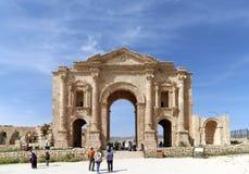 Arch of Hadrian in Gerasa (Jerash) Royalty Free Stock Image