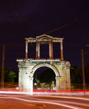 Arch of Hadrian. Greece, Athens. Arch of Hadrian at night Royalty Free Stock Photo