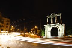 Arch of Hadrian in the heart of Athens Stock Photos