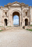 Arch of Hadrian in Jerash in Jordan Stock Images