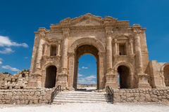The Arch of Hadrian in Jerash Royalty Free Stock Images