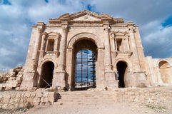 Arch of Hadrian, Jerash, Jordan Stock Photo