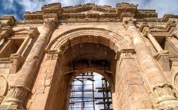 Arch of Hadrian, Jerash, Jordan Stock Image