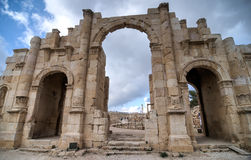 Arch of Hadrian, Jerash, Jordan Royalty Free Stock Images