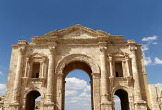 Arch of Hadrian in Jerash, Jordan Stock Image