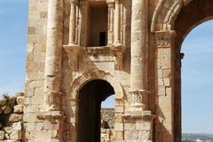 Arch of Hadrian in Jerash, Jordan Stock Photography