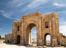 Arch of Hadrian in Jerash, Jordan Royalty Free Stock Photo