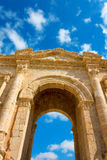 The Arch of Hadrian at Jersah in Jordan Stock Images