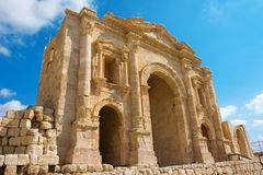 The Arch of Hadrian at Jersah in Jordan Stock Photo